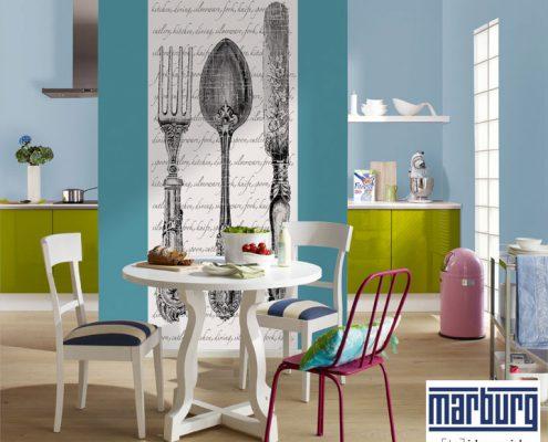Frische Farben mit modernen Tapeten