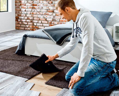 Teppichmodule, Teppichplanken ermöglichen tolle Farb- und Materialienmixe im Innenraum, Tawico heimdecor, Coesfeld